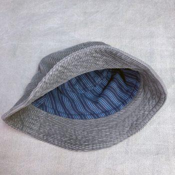 Gramps Bucket Hat in corduroy, inside view of liner